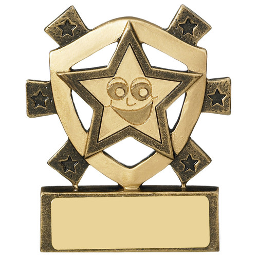 Smiley Star mini budget award includes FREE engraving