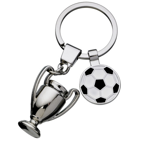 Football and trophy keyring perfect for footie fanatics.