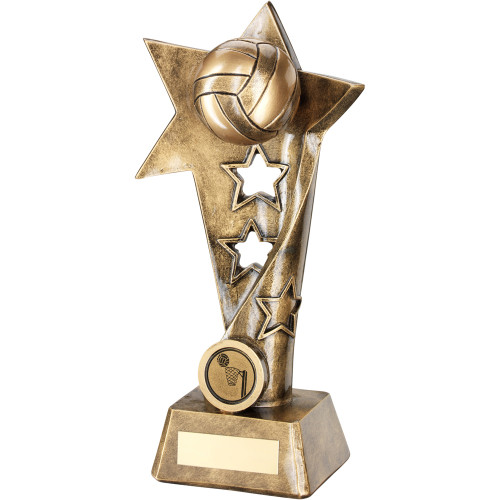 FREE personalised engraving for this 3D Netball Star Award