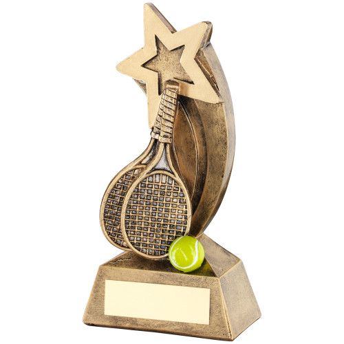 Shooting Star Tennis rackets and ball budget trophy that INCLUDES free engraving.