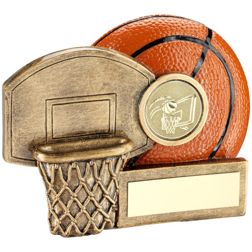 Compact and modern Basketball trophy available in 3 sizes and includes FREE personalised engraving.