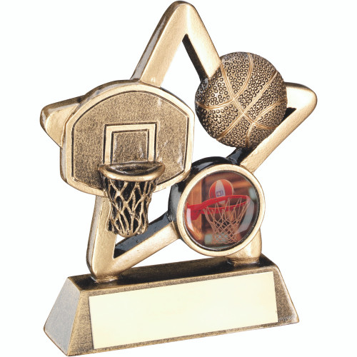 Little Star budget cheap basketball award that includes FREE engraving and standard centre piece.