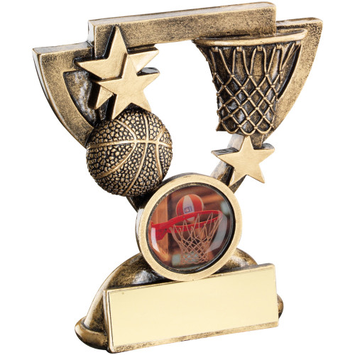 Great value Basketball award available in 2 sizes with FREE personalised engraving and standard centre