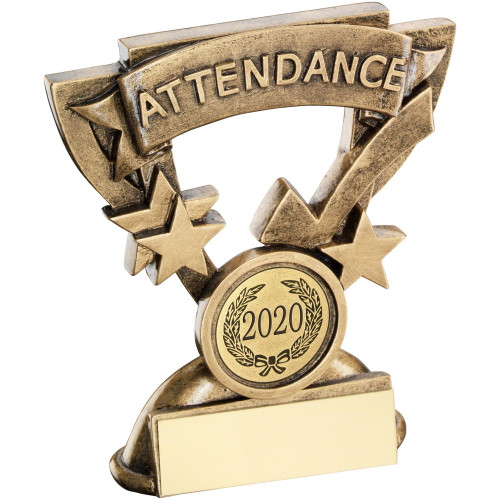 School attendance award with FREE engraving