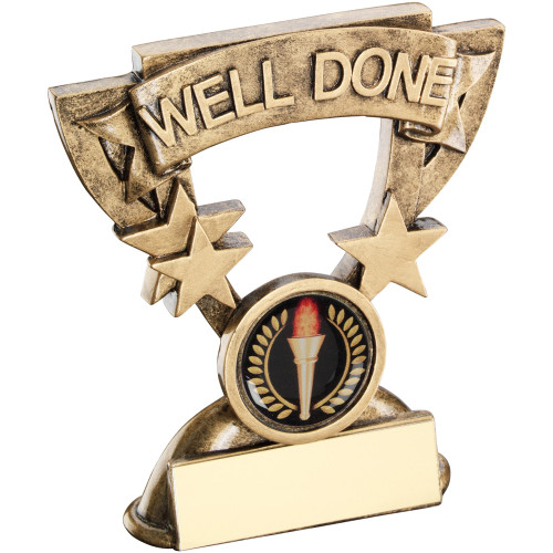 School WELL DONE award that includes FREE engraving.