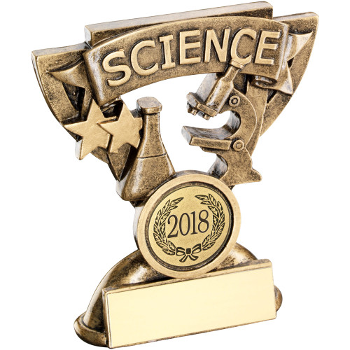 School Science Achievement award in a cup star frame. Includes FREE personalised engraving.