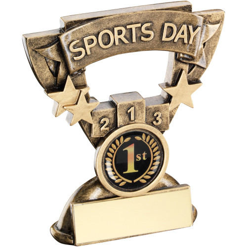 Cup Star Frame Sports Day Award available with FREE personalised engraving.