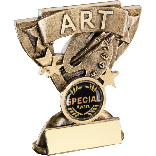 School Art Achievement Award in a cup star frame. Includes FREE engraving.