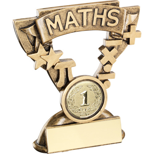 School Maths Achievement Award in a  cup star frame. Includes FREE personalised engraving.