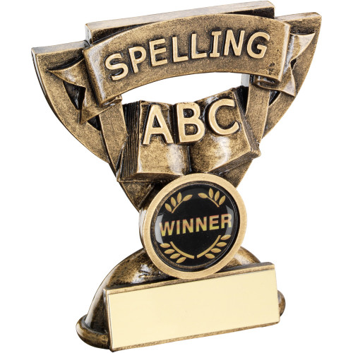 School Spelling Award in a cup star frame. Includes FREE personalised engraving.