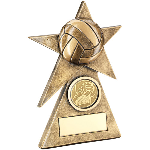Gaelic Football pyramid star gold award. Excellent value and available in 3 sizes with FREE personalised engraving.