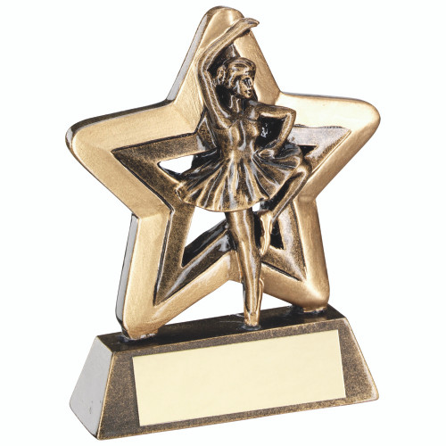 Little Star Ballet female dancer award. 1st Place 4 Trophies offer FREE personalised engraving on ALL trophies.