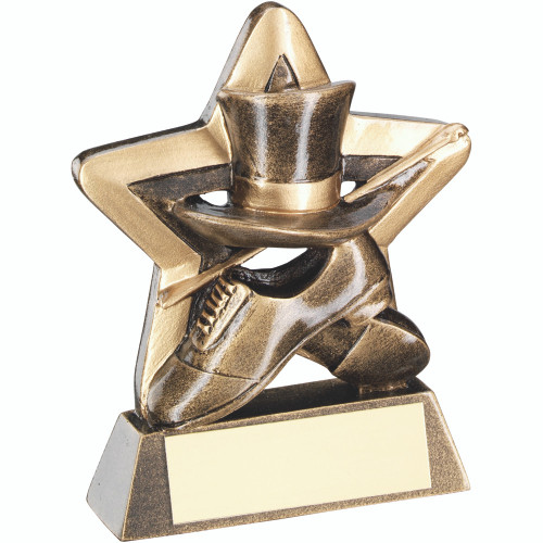 Star Tap Dance hat, shoe and cane Award with FREE personalised engraving.