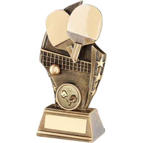 Table Tennis Shard Award available in 3 affordable sizes with FREE personalised engraving.
