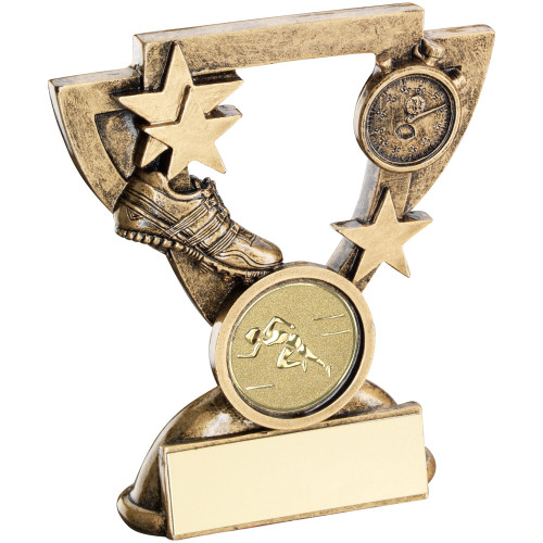 Athletics trophy. A great value award with FREE engraving and standard centre.