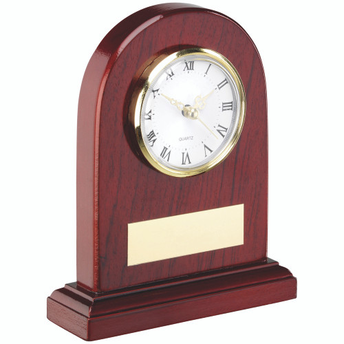 Wooden Arch Clock that includes FREE personalised engraving and is available in 2 sizes.