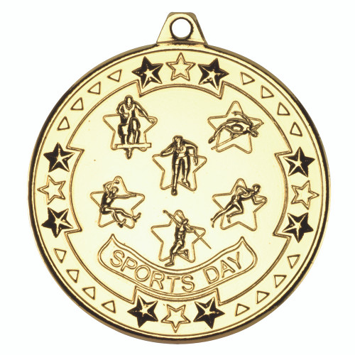 50mm Gold Sports Day Medal