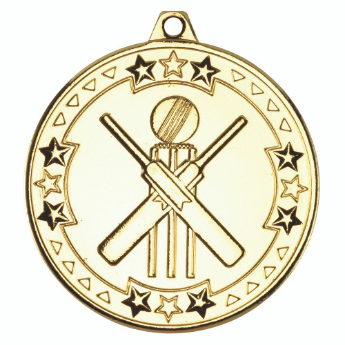 50mm Gold Cricket Medal Awards
