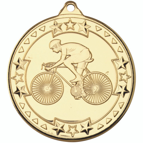 50mm Gold Cycling Medal Award