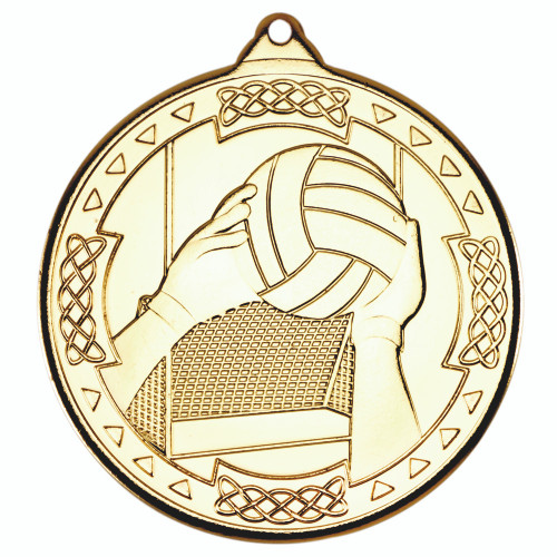 50mm Gold Gaelic Football Medal Award