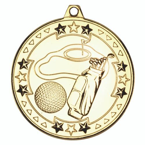 50mm Gold Golf Medal Award