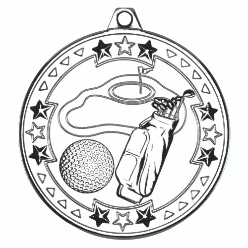 50mm Silver Golf Medal Award