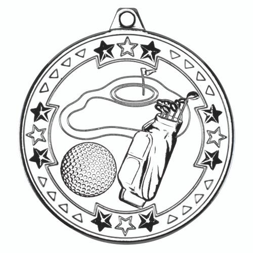 50mm Silver Golf Medal Award