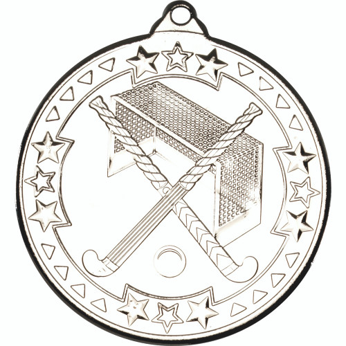 50mm Silver Hockey Medal Award