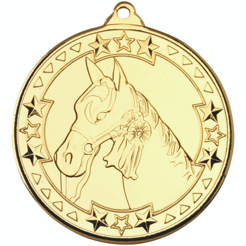 50mm Gold Horse / Equestrian Medal Award