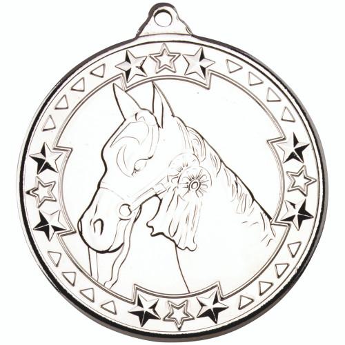 50mm Silver Horse / Equestrian Medal Award