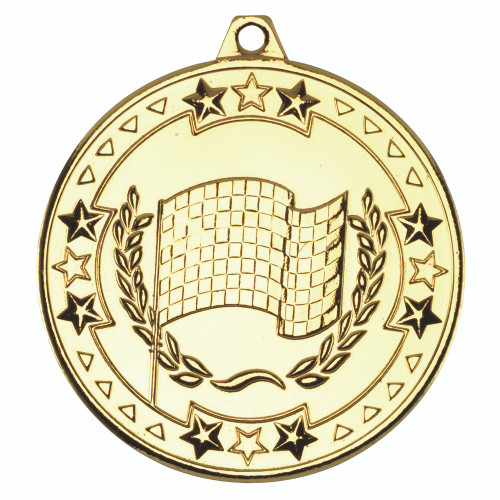50mm Gold Motorsport Medal Award