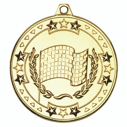50mm Gold Motorsport Medal Award