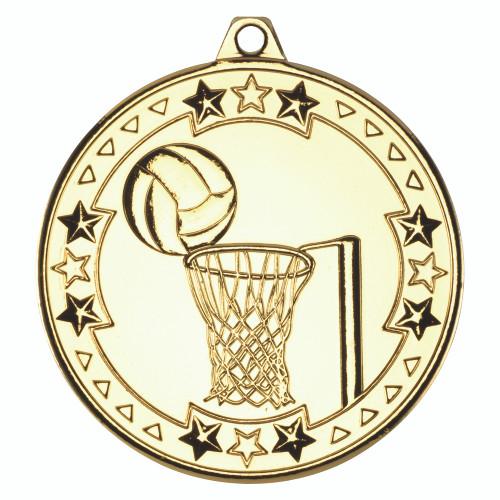 50mm Gold Netball Medal Award