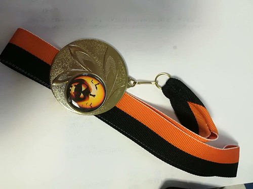 Halloween Spooky Scary Pumpkin Medals in Gold, Silver & Bronze