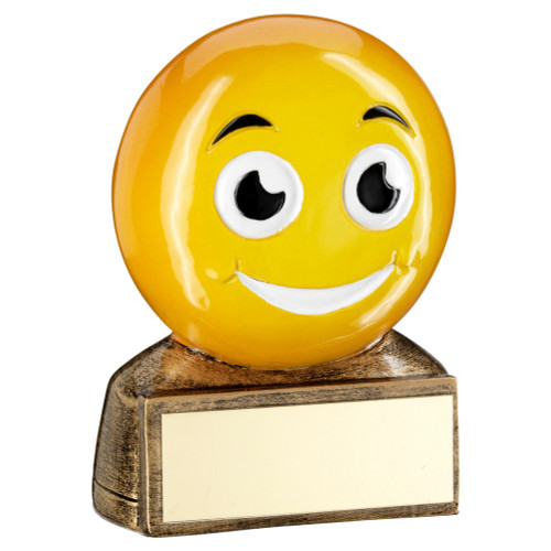 Smiley Face Emoji Trophy Award from 1st Place 4 Trophies & Gifts