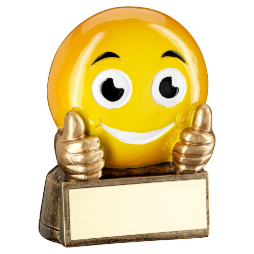 Smiley Face Thumbs Up Emoji Trophy Award from 1st Place 4 Trophies