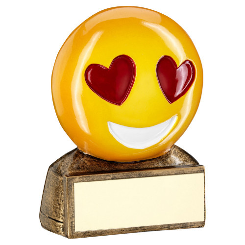 Smiley Face Heart Eyes Love Emoji Award from 1st Place 4 Trophies RF952