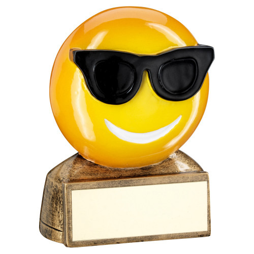 Smiley Face Cool Sunglasses Emoji Award RF955 at 1st Place 4 Trophies