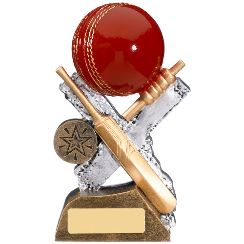 Extreme Cricket trophy award available in 3 affordable sizes at 1st Place 4 Trophies