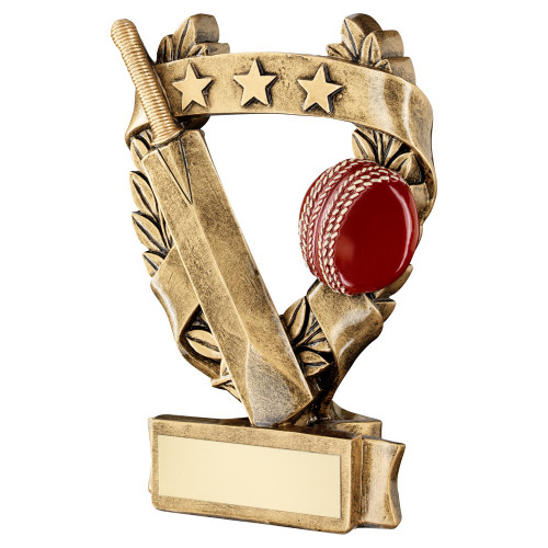 Low cost Cricket award with bat and ball available in 3 sizes