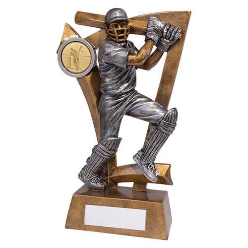 Superb cricket batsman figure trophy available in 3 sizes at 1stPlace4Trophies