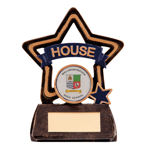 Little Star School House Award in Blue available with FREE engraving
