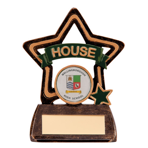 Little Star School House Award in Green available with FREE engraving