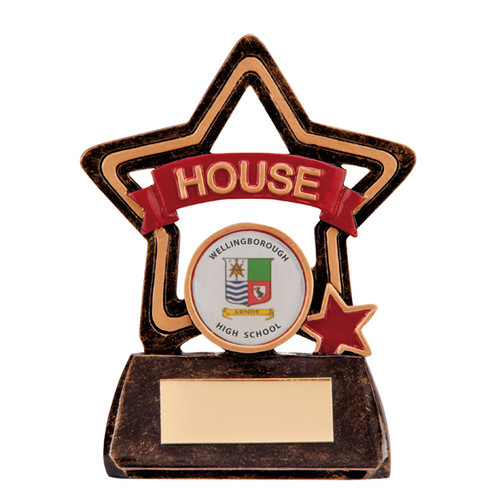 Little Star School House Award in Red available with FREE engraving