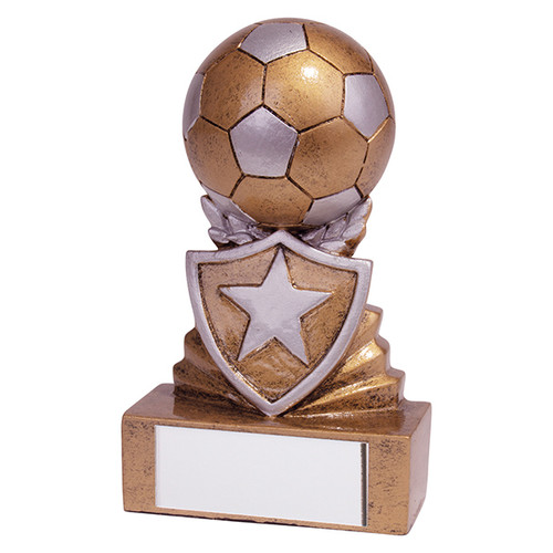 Shield Mini Football Award. Budget price and includes FREE engraving.