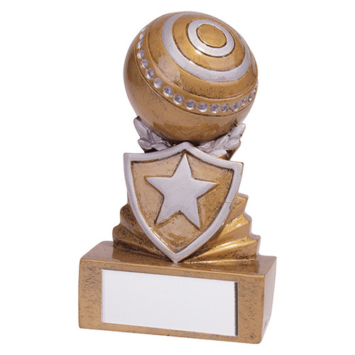 Shield Mini Lawn Bowls Award. Budget price and includes FREE engraving.