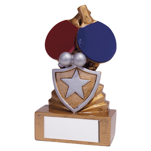 Shield Mini Table Tennis Award. Budget price and includes FREE engraving.