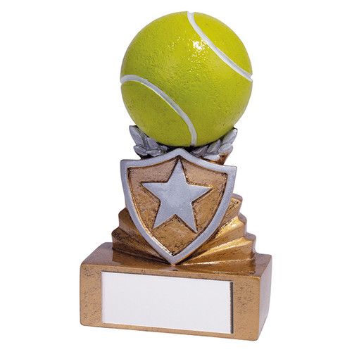 Shield Mini Tennis Award. Budget price and includes FREE engraving.