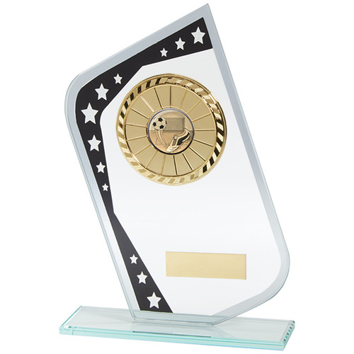 Multisport Meteor budget glass trophy affordable award with FREE Engraving