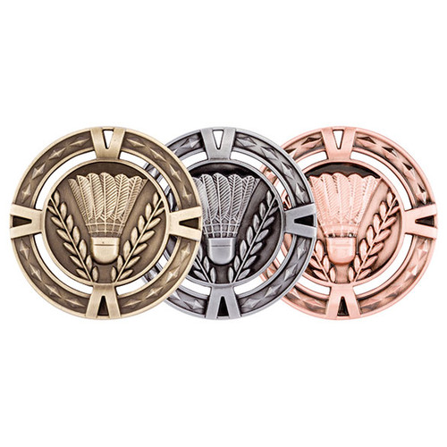 V-Tech Badminton 60mm 3D Medals great value medals at the best prices